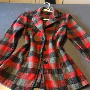 Plaid sweater/light spring jacket